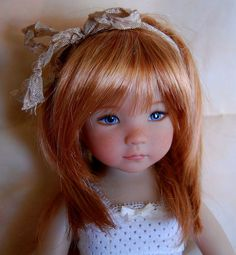 Custom made doll wig style and perfect fit for Dianna Effner Little Darling #NONE