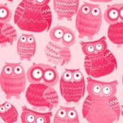 Pink Owls by lusyspoon, click to purchase fabric