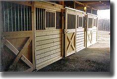 Horse barn stalls photo