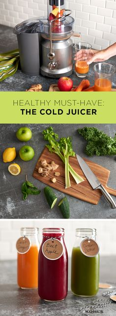 Juicing is more than just a trend—it's good for you! To save money and customize your own all-natural juices, try making them at home with a Breville cold juicer. Soon you'll be enjoying fresh, delicious and healthy juice made from your favorite fruits and vegetables. with Kohl's.