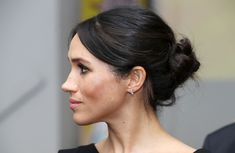 Meghan Markle's Messy Bun Goes Glam! See Her Signature Style from Every Angle