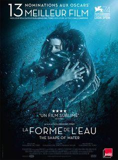 La forme de l'eau :  Un conte fantastique et poétique, pour une histoire d'amour singulière. Une magnifique ode à la différence.