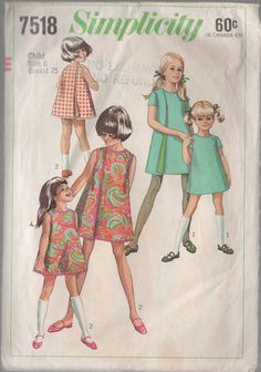 Vintage 60s Simplicity 7518 Three Armhole Wrap by sandritocat