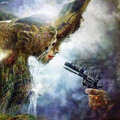 Technology kills mother earth.