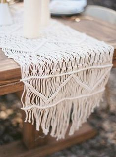 table runners I want to make. Love the geometric patterns. it updates the retro feel.
