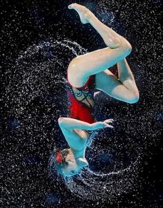 Ukraine compete in the Synchronized Swimming Duet Technical preliminary round on day two of the FINA World Championships at Palau Sant Jordi on July 2013 in Barcelona, Spain. Cheerleading, Volleyball, Synchronized Swimming, Swimming Pools, Verona, Anastasia, Swimming Pictures, Ballet Poses, Summer Olympics