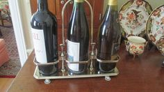 Silver Plated Three Bottle Wine Caddy