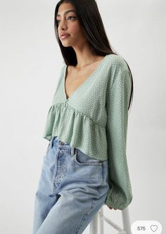 Cute Casual Outfits, Stylish Outfits, Summer Outfits, Fashion Outfits, Fashion Shirts, Girly Outfits, Mode Hijab, Casual Tops, Aesthetic Clothes