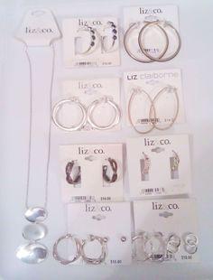 Signature Earring Necklace Set Liz Claiborne gold & silver plated (NWT$156) #LizClaiborne