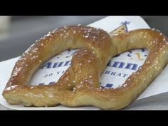 How To Make Auntie Anne's Soft Pretzels. The mixture is probably sugar, flour, and salt.