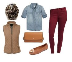 Great Fall Outfit: Burgundy, Chambray and Leopard Burgundy Jeans Outfit, Maroon Jeans, Jeans Outfit Winter, Winter Outfits, Fall Fashion Outfits, Autumn Fashion, Casual Outfits, Fashion 2017, Fashion Ideas
