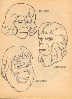 Planet of the Apes coloring book I clearly remember coloring this page in the 1970's--timm #planetoftheapes