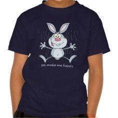 You Make Me Hoppy Bunny Rabbit Tshirt