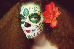 Hope Shots Photography Artist Unique Irish Model Sabra Sugar Skull Face painting