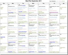 September Monthly Meal plan--site has monthly menus and links to recipes (some are freezer friendly)