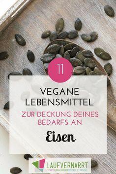 Vegan/vegetarisch und Eisen - Welche Lebensmittel sind besonders eisenreich und was gibt es zu beachten, wenn du dich pflanzlich ernähren willst? Erfahre alles über Eisen und meine Empfehlungen für einen gesunden Eisenhaushalt bei veganer und vegetarischer Ernährung.