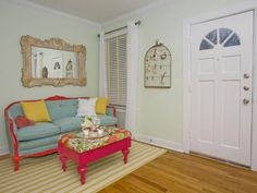 Property Brothers: Feminine and welcoming sitting room. I want to do this to my couch!