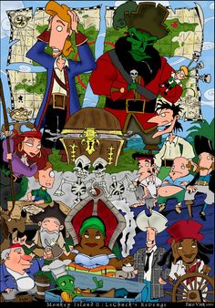 Monkey Island 2: LeChuck's Revenge poster by Paco Vink