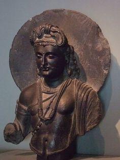 Bodhisattva 100-300 CE Pakistan Schist