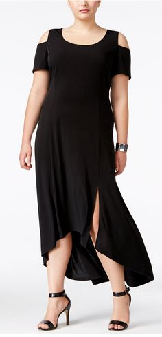 87846247ed402 NY Collection Plus Size Cold-Shoulder Maxi Dress - Dresses - Women -  Macy s. Charmaine Marks Godfrey