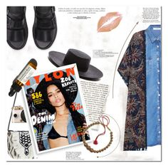 """""""Zoe Kravitz Inspired"""" by es-vee ❤ liked on Polyvore featuring Janessa Leone, Antik Batik, Urban Outfitters, Bomedo, MANGO, Sinclair and Marc"""