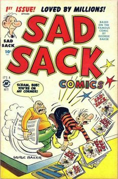 #75YearsAgo#75YearsAgo Sad Sack ( http://ift.tt/2rqy2jz ) Harvey Comics published original Sad Sack stories in the Sad Sack Comics comic book series which ran 287 issues cover-dated September 1949 to October 1982. Harvey also published the one-shot comic Sad Sack Goes Home in 1951 ( http://ift.tt/2sJdAhO ). In the mid-1950s Harvey Comics and Baker brought in Paul McCarthy to draw the Sad Sack titles followed by Fred Rhoads Jack O'Brien and Joe Dennett. Others who periodically drew for the…