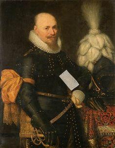 Jan Anthonisz van Ravesteyn (and studio), Portrait of an Officer, Mauritshuis (inv. 456)