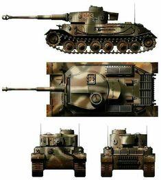 Tiger I prototype Porsche cammo