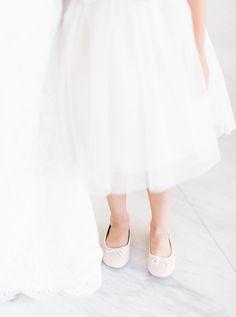 ballerina slippers for the flower girl