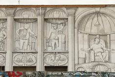 Italian artist Blu just threw down an amazingly huge mural on an abandoned building in Rome. Keeping it simple with just black on white, Blu depicts the ob Rome Streets, Italian Street, Street Art Graffiti, Abandoned Buildings, Street Artists, Urban Art, Art Google, Pop Art, The Incredibles