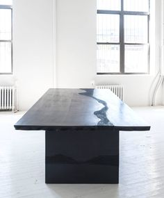 Black Cement and Black Silica Dining Table by Fernando Mastrangelo image 9