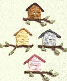 crochet birdhouse ༺✿ƬⱤღ✿༻