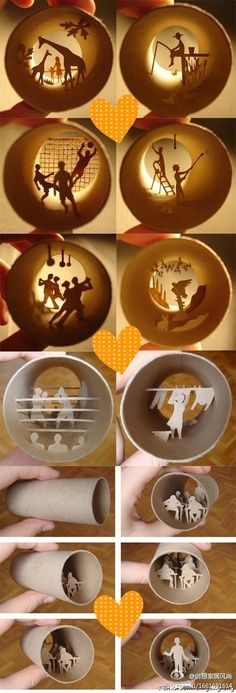 Toilet paper roll craft .. OMG. No way that I could do this , but it's sooooo cool...