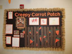 The Creepy Carrot Patch Literacy Theme Project