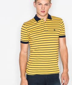 Springfield Man & Woman. Polos STRIPED PIQUÉ COTTON POLO SHIRT