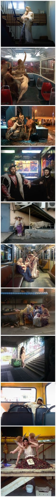 Alexey Kondakov - classic paintings in modern urban settings, art, photography, photo manipulation, fan art