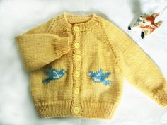 Original hand knitted cardigan jacket in pure wool. - by DreamingIncolours on madeit