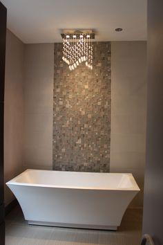 Freestanding Bathtub with Kohler ceiling faucet!