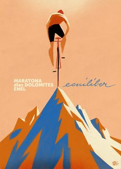 "— Manifesto e muro per ""Maratona dles Dolomites. Illustration Photo, Graphic Design Illustration, Bicycle Art, Bicycle Design, Velo Vintage, Vintage Bicycles, Cycling Art, Cycling Quotes, Cycling Jerseys"