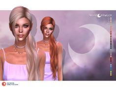 nightcrawler coral hair - The Sims 4 Download - SimsDomination Sims 4 Mac, Sims Cc, Aurora Hair, Coral Hair, Sims Hair, The Sims 4 Download, Chanel, Sims 4 Custom Content, New Hair