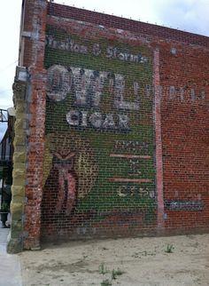Owl Cigar ghost sign, Aurora, NE - I think this burned down last year.