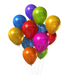 Multi Coloured Assorted Budget Party Balloons (Pack of 25)