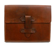 Leather iPad2 Case in Antique Saddle Tan with by julieboyles