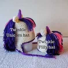 Purple unicorn crochet hat - TWINKLE - purple unicorn crochet hair with pink highlights - perfect handmade unicorn gift for girls Purple Unicorn, Baby Unicorn, Unicorn Hair, Crochet Unicorn Hat, Crochet Hats, Crochet Character Hats, Pink Highlights, Birthday Gifts For Kids, Cute Hats