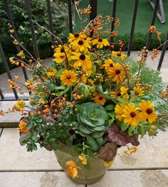 Fantastic Fall Container Gardening Inspirations - Page 76 of 92 Fall Container Plants, Fall Containers, Container Flowers, Container Gardening, Fall Flower Boxes, Window Box Flowers, Fall Flowers, Window Boxes, Window Ideas