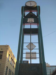 Downtown Albuquerque Route 66 Clock by puroticorico, via Flickr