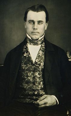 Daguerreotype of a beautiful man with astonishing eyes!