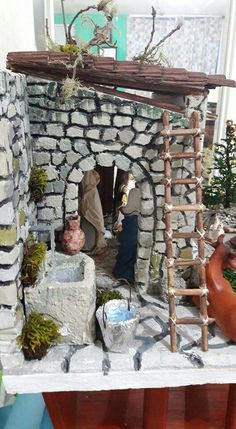 Foam Crafts, Diy And Crafts, Fontanini Nativity, Christmas Preparation, Fairy Crafts, Advent, Fairy Garden Accessories, Fairy Houses, Cold Porcelain
