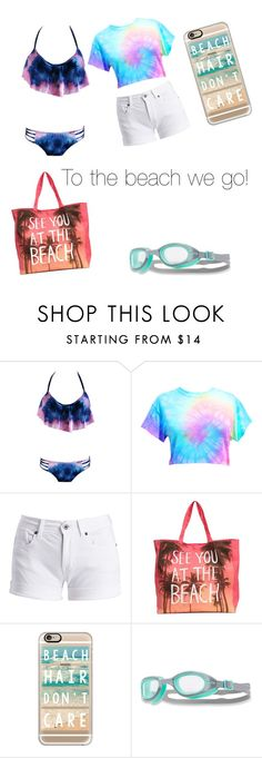 """""""Swim day"""" by sadie-loehr on Polyvore featuring Barbour International, Casetify and TYR"""