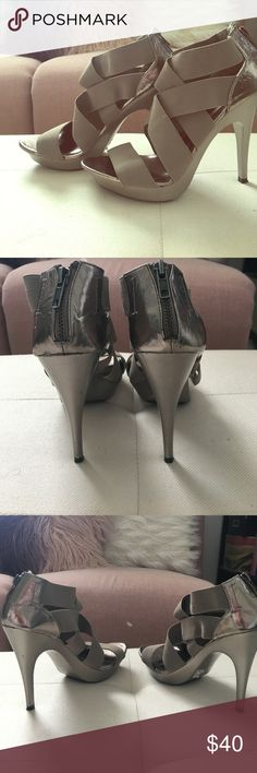 Selling this Grey Aldo high heels size 7 on Poshmark! My username is: shannonashleigh. #shopmycloset #poshmark #fashion #shopping #style #forsale #Aldo #Shoes